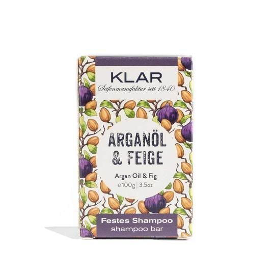 KLAR festes Shampoo Arganöl/Feige