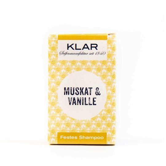 KLAR festes Shampoo Muskat/Vanille